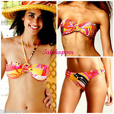 NEW $170 8 TRINA TURK BALI WAVES BANDEAU BIKINI SWIMSUIT SWIM SPA BOSTON PROPER