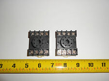 2  New  Relay Octal Socket  DIN Rail, Custom Connector Co. Tube Socket