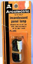 """Vintage Arcolectric PL-28G 12V   PANEL LAMP  .5/16"""" DIA Panel 062 thick, Green"""