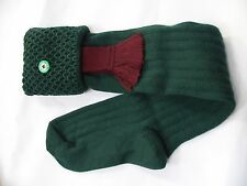 Double turn over  hunting shooting socks with garter flashes size M 6-8.5 breeks