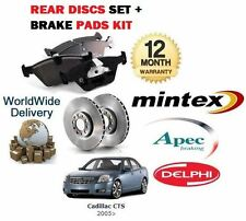 CADILLAC CTS  2.8 SPORTS MODEL 1/2005-  NEW REAR BRAKE DISCS SET + DISC PADS KIT