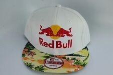 RED BULL NEW ERA FLORAL WHITE FRONT LARGE LOGO NEW ERA SNAPBACK