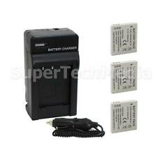 3 Battery + Charger Kit for Canon NB-4L SD1400 IS SD1000 SD960 SD940 SD780 SD750