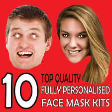 10 Personalised Party Face Masks Lowest Price DIY SET Face Masks