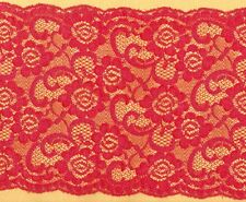 Red Rigid Lace Trimming 4mts 18.5cm Wide