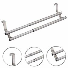 Adjustable Over Door Towel Holder Rack (SI-K1015) Rail Cupboard Hanger Kitchen