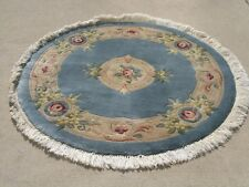 Barsamian Topakian Plush Hand Woven Japanese French Floral Aubusson Rug 4ft+fri
