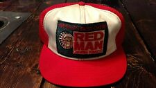 Vintage RED MAN Chewing Tobacco Trucker Snapback Adjustable Hat Cap