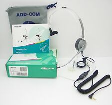 ADD100-07 Headset with 3.5mm plug for Alcatel 4028 4029 4038 4039 4068 IP-Touch