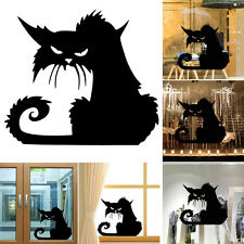 Halloween Home Decor Room Mural Decals Art Cat Shopwindow Wall Stickers New