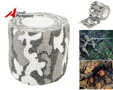 4.5M Military 1 Roll Stretch Bandage Camping Hunting Camouflage Tape White Camo