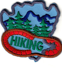 """HIKING"" - SPORTS - HIKER - OUTDOORS -TRAILS-Iron On Embroidered Applique Patch-"