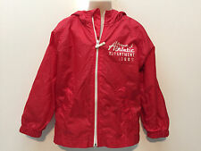 Place Toddler Boy Girl Zip-Up Hooded Red Rain-Coat Jacket Size XS 4