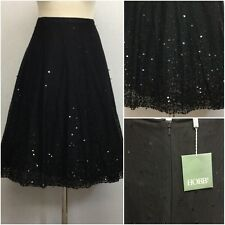 Hobbs Ladies Black Mesh Sequin 50s Vintage Full Circle Skirt Size 14 BNWT