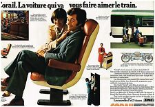 Publicité Advertising 1976 (2 pages) Le Train Corail SNCF