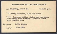 1959 DOLL & TOY COLLECTORS CLUB WILMINGTON DE, BRING BUTTONS & JAPANESE DOLLS