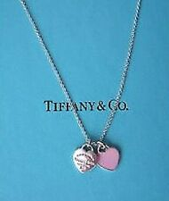 "TIFFANY & CO ""RETURN TO TIFFANY"" MINI HEART NECKLACE 16""! TIFFANY PINK STERLING!"
