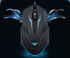 Mouse GAMING 3000dpi 1,5m USB MOUSE OTTICO Home/Office, desktop/laptop-Nero