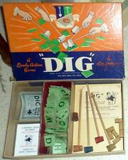 "Vintage Parker Brothers 1940's Lively Action Game ""Dig"" In Original Box #2 MS"