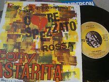 """7""""  TONY ASTARITA CORE SPEZZATO ROSSA FESTIVAL DI NAPOLI COVER VG+ VINILE GOOD--"""