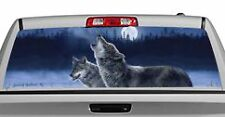 Truck Rear Window Decal Graphic [Howling In The Moonlight] 20x65in DC54709