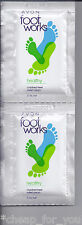 *~AVON~*10 x 5 mL SAMPLES**FOOTWORKS CRACKED HEEL RELIEF CREAM**NEW**