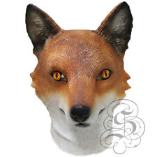 Látex Animal realista europea Red Fox Woodland Vixens Accesorios Fiesta Máscara De Pantalla