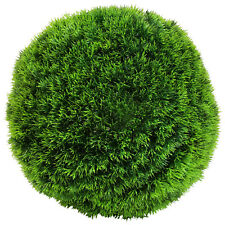 "Charles Bentley Pair of 14"" Grass Topiary Artifical Balls 5 Year UV Protection"