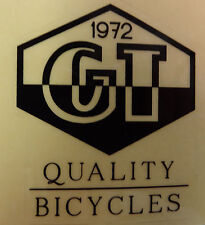 GT Decal Sticker Quality Bicycles Since 1972 BMX Park Street Racing Bike Bicycle