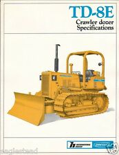 Equipment Brochure - Dresser - TD-8E - Crawler Dozer  - 1984 (EB769)
