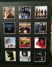 """THE DOORS 14"""" BY 11"""" LP COVERS PICTURE MOUNTED READY TO FRAME"""