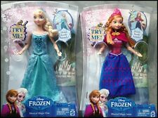 "Disney's Frozen Musical Magic Elsa & Anna 2 Doll Set 10"" Lights Up!"