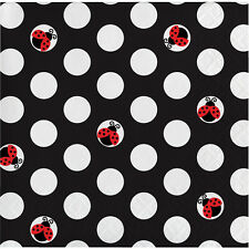 Ladybug Fancy Beverage Napkins [16ct] Party Supplies Baby Shower Tableware