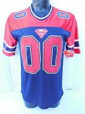 DC COMICS SUPERMAN Football Jersey #41 MEDIUM POLYESTER CASUAL