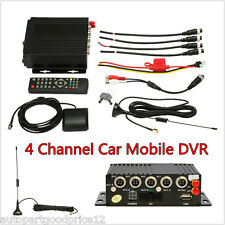 4CH Channel AHD Car Mobile DVR SD 3G Wireless GPS Realtime Video Recorder+Remote