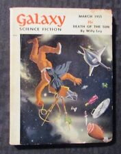 1955 March GALAXY Science Fiction Digest Magazine VG- 3.5 Willy Ley