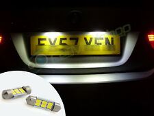 LED Rear Number Plate Bulbs Lights Replacement Seat Arosa 01+ Cordoba 03+
