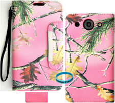 Pink Camo Mossy Hunter Series Wallet Folio Case purse for LG Optimus G Pro E980
