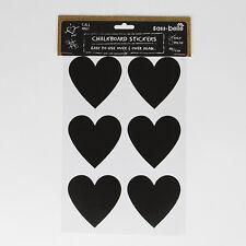 12 forma de corazón en el borrador para pizarrón Reutilizable Etiqueta Label Frascos De Vidrio Tarjetas