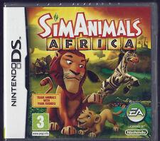 Sim Animals: Africa (Nintendo DS)  lite Dsi xl (3ds in 2D) kids game Brand New