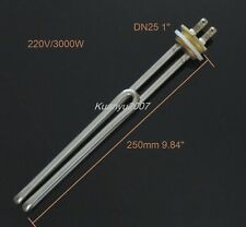 Electrical Element Booster For Water Heater DN25 3000W Stainless Steel Copper
