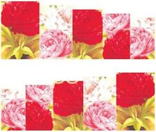 Nail Art Stickers Transfers Decals Red Pink White Flowers (DA74)