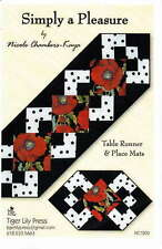SIMPLY A PLEASURE TABLE RUNNER & PLACEMATS PATTERN, From Tiger Lily Press NEW