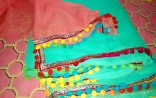 Most Beautiful Saree Designer georgtte with New Border with Blouse on Sale Sale