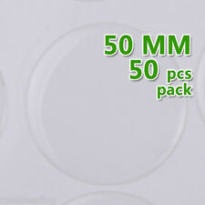 50PCS 50mm Round Transparent Epoxy Domes Resin Cabochon Sticker C1910