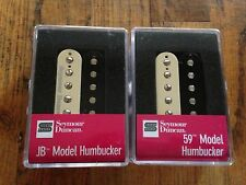 Seymour Duncan SH-4 JB and SH-1n 59 Model Humbucker Pickup Set Zebra New