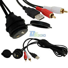3.5mm USB AUX 2RCA Car Dash Mount Installation Accessories Data Extension Cable