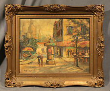 French Oil Painting Signed Antoine Blanchard (1910-1988) Courtyard Scene