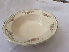 """Alfred Meakin post 1945 dessert bowl 7"""" gold swags Green ring off edge MEA278"""