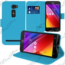 Housse Etui Coque Portefeuille Support Video BLEU Asus Zenfone 2 ZE500CL/ 2E